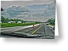Thunder Road Greeting Card by Alan Look