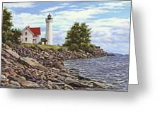 Tibbetts Point Lighthouse Greeting Card by Richard De Wolfe