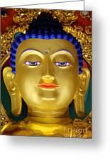 Tibetan Bhudda 3 Greeting Card by Bob Christopher