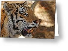 Tiger De Greeting Card by Ernie Echols