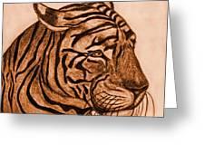 Tiger IIi Greeting Card by Debbie Portwood