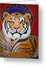 Tiger Saint Greeting Card by Christina Miller