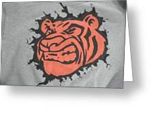Tiger Splatter Custom Painted Crewneck Sweatshirt Greeting Card by Joseph Boyd