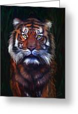 Tiger Tiger Greeting Card by Michelle Wrighton