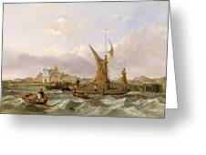 Tilbury Fort - Wind Against the Tide Greeting Card by William Clarkson Stanfield