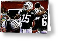 Tim Tebow  -  Ny Jets Quarterback Greeting Card by Paul Ward