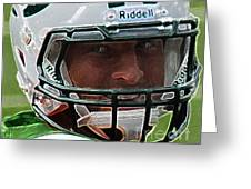 Tim Tebow Art Deco Close-up - New York Jets -  Greeting Card by Lee Dos Santos