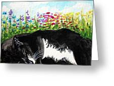 Time For A Snooze Greeting Card by Elizabeth Robinette Tyndall