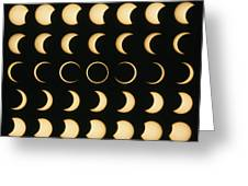 Time-lapse Image Of A Solar Eclipse Greeting Card by Dr Fred Espenak