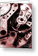 Time Mechanisms Greeting Card by David Cucalon
