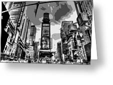 Time Square Bw6 Greeting Card by Scott Kelley