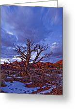 Timed Exposure Of Sunset Clouds Greeting Card by Robert Postma