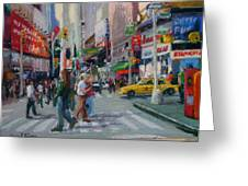 Times Square - Nyc Greeting Card by Lorrie Turner