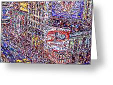 Times Square Greeting Card by Marilyn Sholin