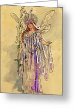 Titania Queen Of The Fairies A Midsummer Night's Dream Greeting Card by C Wilhelm