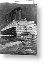 Titanic: Shipwreck, 1912 Greeting Card by Granger