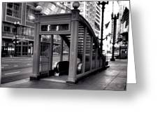 To The Subway - 2 Greeting Card by Ely Arsha