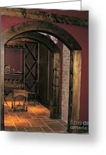To The Wine Cellar Greeting Card by Renee Trenholm
