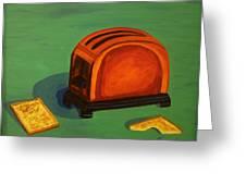 Toaster Greeting Card by Cynthia Thomas