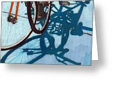 Together - City Bikes Greeting Card by Linda Apple