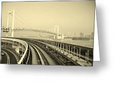 Tokyo Metro Ride Greeting Card by Naxart Studio