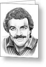 Tom Selleck Greeting Card by Murphy Elliott