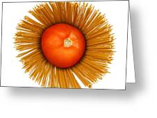 Tomato And Pasta Greeting Card by Blink Images