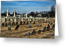 Tombstones Greeting Card by Paul Ward