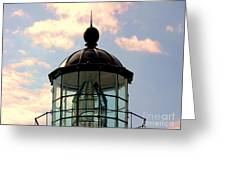Top Of Bonita Lighthouse Greeting Card by Kathleen Struckle
