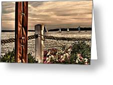 Top Of The Bay Greeting Card by Tom Prendergast