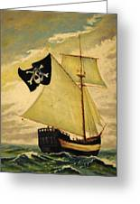 Top Sail Gaff-rigged Sloop Greeting Card by Gerald Swift
