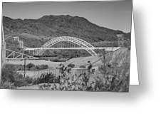 Topock Bridge Greeting Card by Ricky Barnard