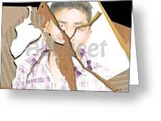 Torn Mix Greeting Card by Abhijeet Sarswat
