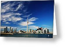 Toronto Skyline Greeting Card by Andriy Zolotoiy