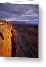 Toroweap Overlook Cliff Greeting Card by Leland D Howard