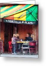 Tortilla Flats Greenwich Village Greeting Card by Susan Savad