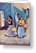 Tortilla Sellers Greeting Card by Emiliano Campobello
