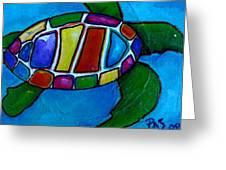 Tortuga Greeting Card by Patti Schermerhorn