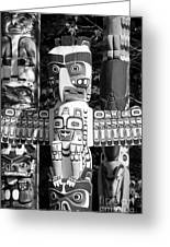 Totems Greeting Card by Chris Dutton