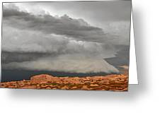 Touch The Clouds Greeting Card by Christine Till