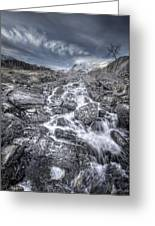 Towards The Cairn Greeting Card by Andy Astbury