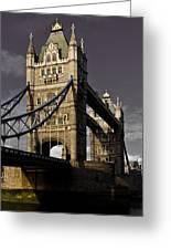 Tower Bridge Greeting Card by David Pyatt
