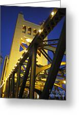 Tower Bridge Greeting Card by Linda Battles
