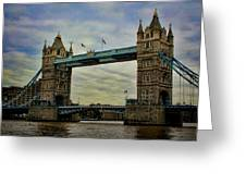 Tower Bridge London Greeting Card by Heather Applegate