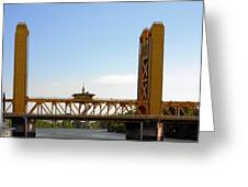 Tower Bridge Sacramento - A Golden State Icon Greeting Card by Christine Till