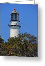 Tower Of East Light Of Two Lights Greeting Card by Nancy Griswold