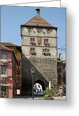 Town Gate Schwarzes Tor In Rottweil Germany Greeting Card by Matthias Hauser