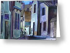 Town in Italy Greeting Card by Carol Mangano