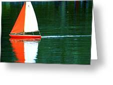 Toy Boat Greeting Card by Anna Szwiec