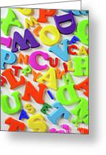 Toy Letters Greeting Card by Carlos Caetano